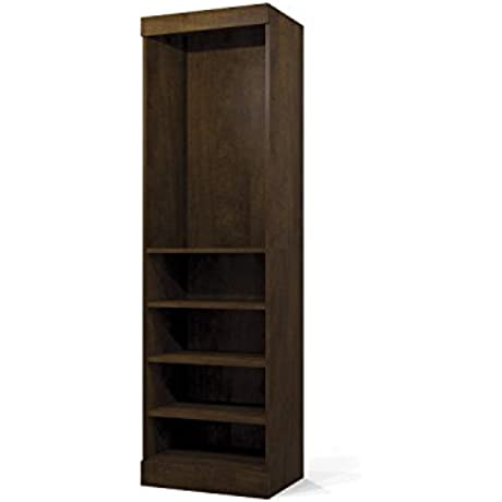 Bestar Furniture 26162 69 Pur 83 7 Tall Storage Unit Including 5 Shelves 2 Fixed And 3 Adjustable In