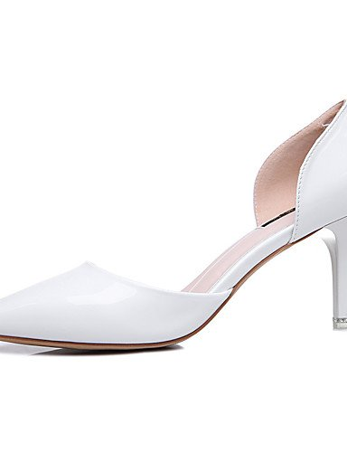 GGX/Damen Schuhe Patent Leder Frühling/Sommer/Herbst/Winter Heels Hochzeit/Party & Abend/Casual Rosa/Weiß white-us8 / eu39 / uk6 / cn39