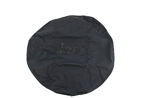 (Genuine Jeep Accessories 82209949AB Cloth Spare Tire Cover with Black Jeep)