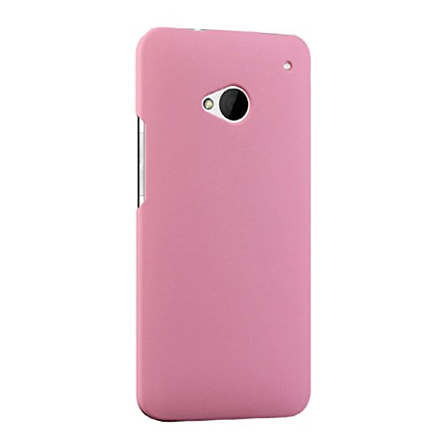 Scheam HTC One M7 801e Case Durable Shock-Absorption Protective Case Cell Phone Cases Ultra Impact Bumper Cover Slim Hybrid TPU Cases for HTC One M7 801e (Pink)