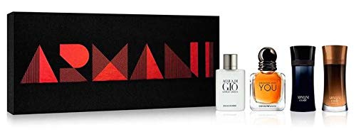 Giorgio Armani 4-Piece Variety Gift Set for Men ()