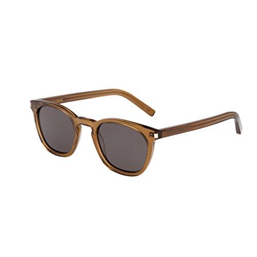 Saint Laurent Women's SL 28 Sunglasses, Olive Opale/Smoke, One - Sl Sunglasses 1