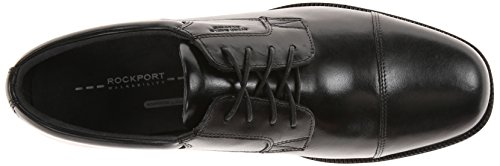 Rockport Mens Waterproof Lead The Pack Cap-Toe Oxford- Black Waterproof Leather