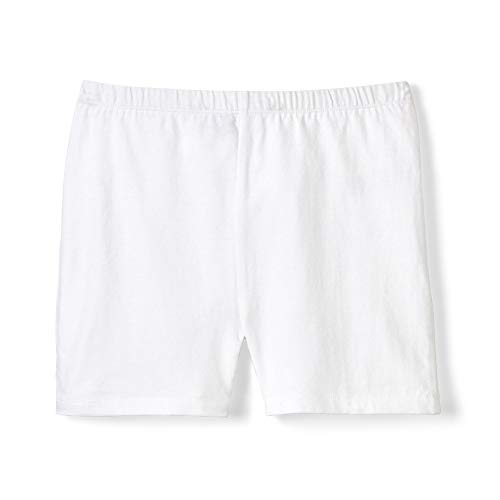 French Toast Girls' Little Stretch Kick Short, White, 6