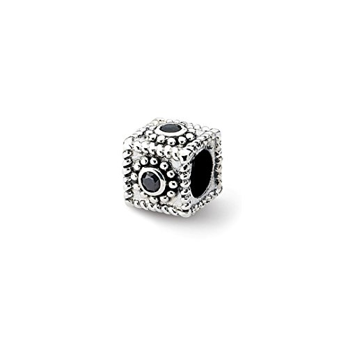 ICE CARATS 925 Sterling Silver Charm For Bracelet Square Cubic Zirconia Cz Bead Stone Crystal Ed Black Fine Jewelry Ideal Gifts For Women Gift Set From Heart