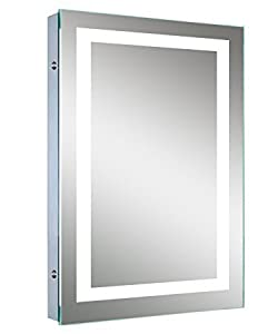 ROCK Wall Mounting LED Mirror with Feather Touch Smart Switch (20x14 Inches)