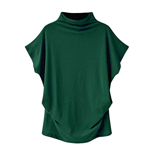 Furniture Turtle Bay - Plus Size Tops,Women Shirts Turtleneck Short Sleeve Cotton Blouse T Shirt Casual Loose Tunic Tops 2019 Chaofanjiancai Green