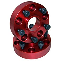 Alloy USA 11300 Red 1Wheel Spacer Pair (1.5\