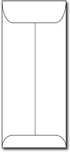 Heavyweight White  10 Policy Envelopes   100 Envelopes   70Lb Text   Open End  10 Envelopes