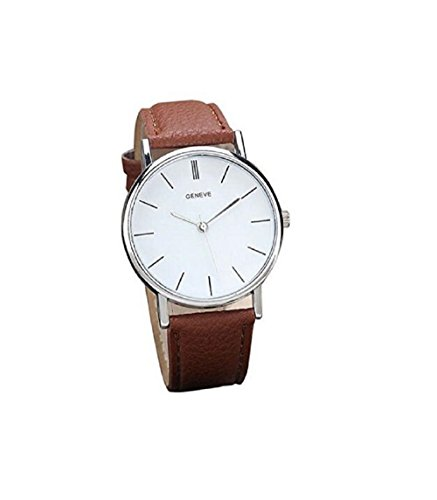 New Watch Design (NYKKOLA 2017 New Vintage Design Leather Band Analog Alloy Quartz Wrist Watch Brown)