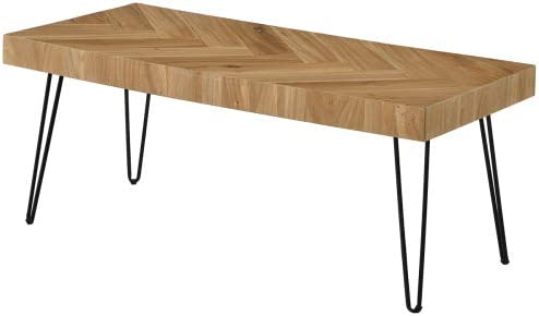 P PURLOVE Modern Wood Coffee Table