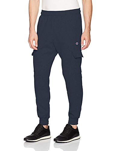 Champion Men's Powerblend Fleece Jogger Pant, Navy, Small
