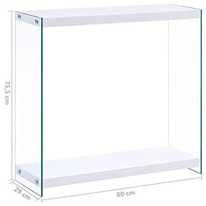 Festnight Mesa Consola Blanco-2