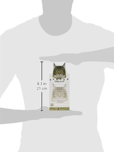 ''Maine Coon Cat Magnetic List Pads'' Uniquely Shaped Sticky Notepad Measures 8.5 by 3.5 Inches by E&S Pets (Image #2)