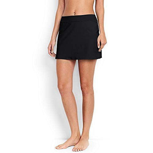 Lands' End Women's SwimMini Swim Skirt with Tummy Control, 16, -
