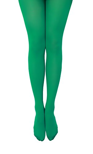 [NovaLava] Womens Semi Opaque 80 Denier Footed Pantyhose Tights Green, One Size