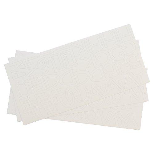 Westcott Letter Craft Removable Vinyl Lettering, Parchment, 1'', White (15822-001) by Westcott