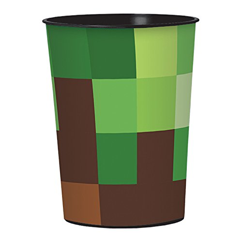 16oz TNT Minecraft Pixel Building Birthday Party Plastic Loot Treat Favor cup