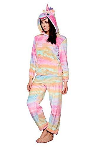 Loungeable Pigiama due pezzi - Donna Rainbow Unicorn