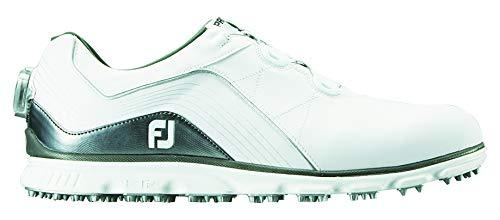 [フットジョイ] ゴルフスパイクレス PRO SL BOA 53287 メンズ 25.0 cm ホワイト/シルバー2018モデル B07KB6LYKJ