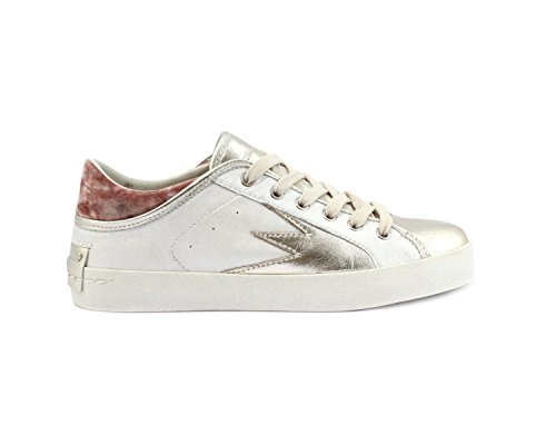Crimine London Damen 25303ks110 Weiss Leder Scarpe Da Ginnastica
