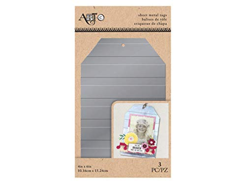 Kole Imports HI188-96 3 Piece Sheet Metal Lines Craft Tag44; 4 x 6 in. - Case of 96