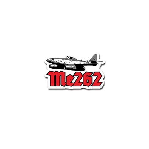 Me262 Air Force Jet Engines Fighter Bomber Aircraft Germany Military Emblem for Audi A3 BMW VW Golf GTI Mercedes (11x7cm) - Sticker Wall Decoration