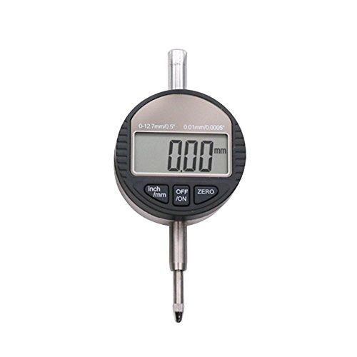 Digital Dial Indicator,LouisaYork Resolution 0.01mm, Gauge Range 0-12.7mm/0.5'' Dial Test Indicators Inch/Metric Conversion Auto Off Gauge Range 0-12.7mm/0.5'' Dial Test Indicators Inch/Metric Conversion Auto Off