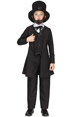 (Fun World Big Boy's Sml/abe Lincoln Chld Cstm Childrens Costume, Multi,)