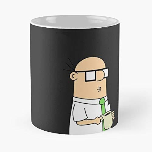 Dilbert Halloween Comic (Dilbert Classic Mug - The Funny Coffee Mugs For Halloween, Holiday, Christmas Party Decoration 11 Ounce White)
