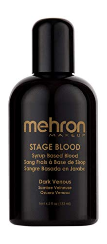 Halloween Blood Dripping Makeup (Mehron Makeup Stage Blood (4.5 Ounce) (Dark)