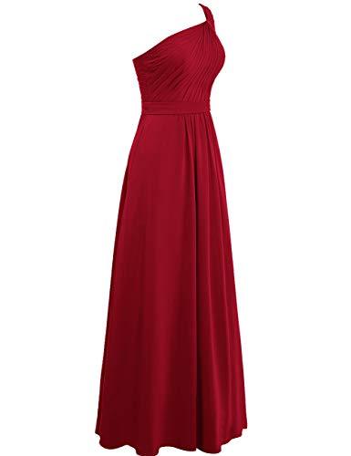 A One Chiffon Schoulder Brautjungfernkleider Abendkleider Rückenfrei Lange Kleider Jade Linie Hochzeit ballkleid Asymmetrisch wqA1IO4