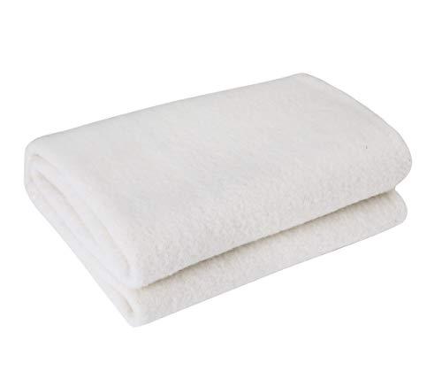 PuTian Virgin CrueltyFree Utpala Australian Merino Wool Mattress Pad Topper UnderBlanket, White, 39by80in