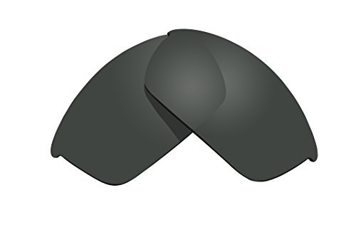 - Sunglass Lenses Replacement Polarized for Oakley Flak Jacket Sunglasses - 4 Options Available (Stealth Black) by BVANQ