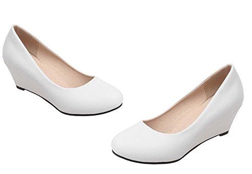 Slip Ballerina Blanc Shoes Eud73 on con Donna Tacco col AgeeMi Donna Scarpe Zeppe 0Hw6Eqq