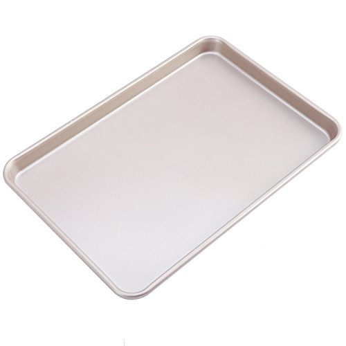 CHEFMADE Non-stick Bakeware 13 Inch Heavy-duty Carbon Steel Cookie Sheet, FDA Approved, Oven Roasting Meat Bread Baking Jelly Roll Pan Cupcake Tray 9