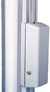 product image for Eder Flag Cleat Cover For 3 To 3.5 Inch Diameter Poles Cyl Lock Silver