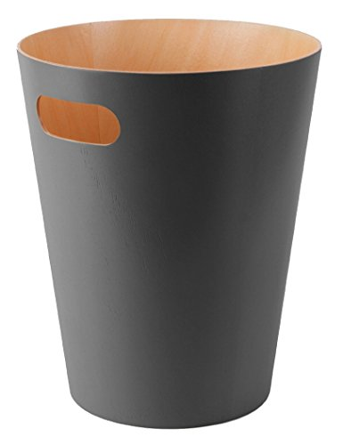 Umbra Woodrow Waste Gallon Charcoal product image