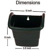 BIO BLOOMS M1 Model Vertical Green Wall Panels or Nail Hanging Type Pots (Black) -Set of 4 PCs