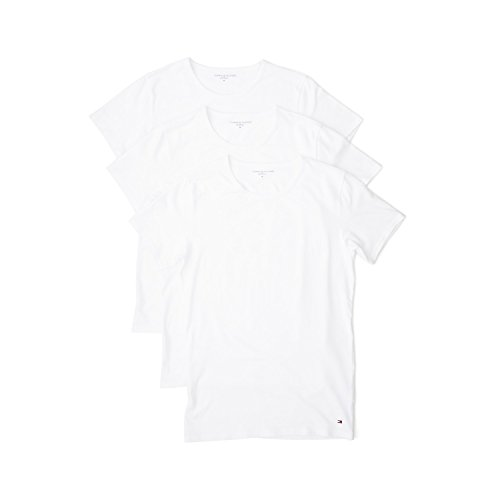 Tommy Hilfiger Herren 3er Pack T-Shirt, Men's Crew Neck Cotton T-Shirt, Medium