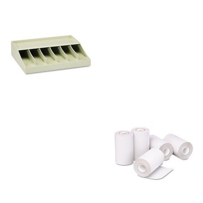KITMMF210470089PMC05262 - Value Kit - Pm Company Single-Ply Thermal Cash Register/POS Rolls (PMC05262) and MMF Bill Strap Rack (MMF210470089)