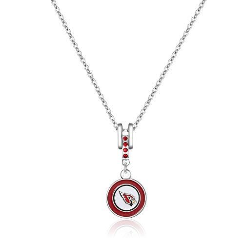 Pro Specialties Group NFL Arizona Cardinals Charm Necklace ()