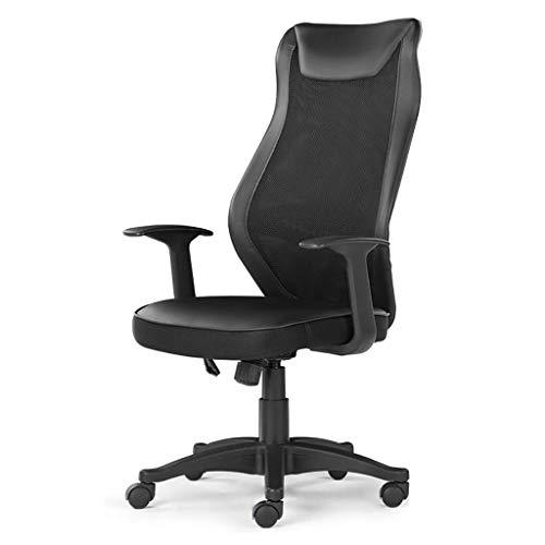 Stol kontorsstol skrivbordsstol ergonomisk svängbar nät uppgift stol hög rygg, kontor svängbar skrivbordsstol med torsionskontroll, sportstil svängbar kontorsstol, svart