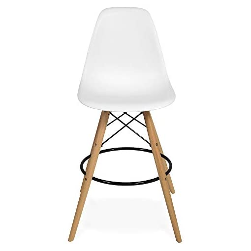 Kitchen Best Choice Products Kids Mid-Century Modern Dining Room Round Table Set with 2 Armless Wood Leg Chairs, White modern barstools