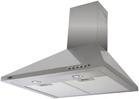 HBH – Campana extractora de cocina Design Acero Inoxidable Pared 60 cm 650 M3/H chimenea extensible: Amazon.es: Hogar