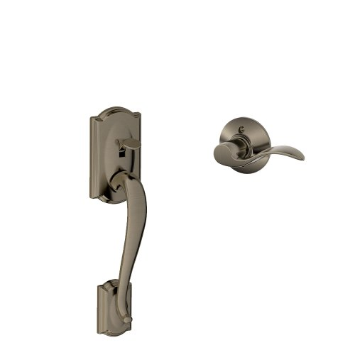 (Camelot Front Entry Handle Accent Left-Handed Interior Lever (Antique Pewter) FE285 CAM 620 ACC LH)