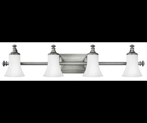 Lighting Hinkley Bathroom Fixtures (Hinkley 5834AN Traditional Four Light Bath from Alice collection in Pwt, Nckl, B/S, Slvr.finish,)