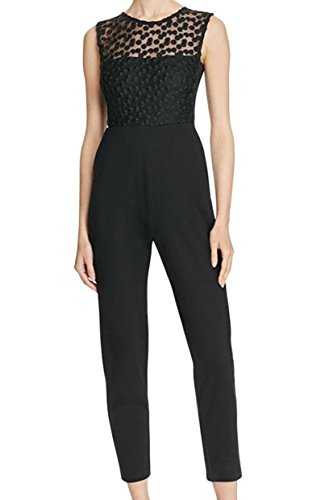 French Connection Embroidered Mesh Womens Chelsea Jumpsuit Black - Chelsea Jumpsuit