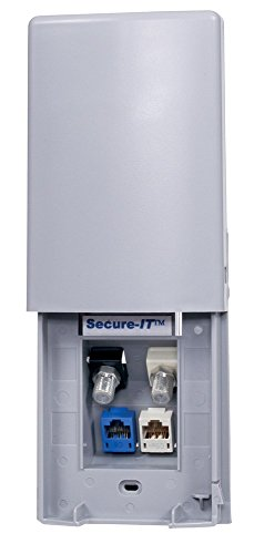 Hubbell Wiring Systems TWPF1GY Secure-IT 1-Gang Weatherproof Face Plate, 4-Port, (Hubbell Faceplates)