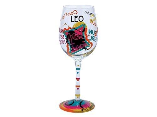 Lolita Love My Sign, Leo Wine Glass by Santa Barbara Design Studio